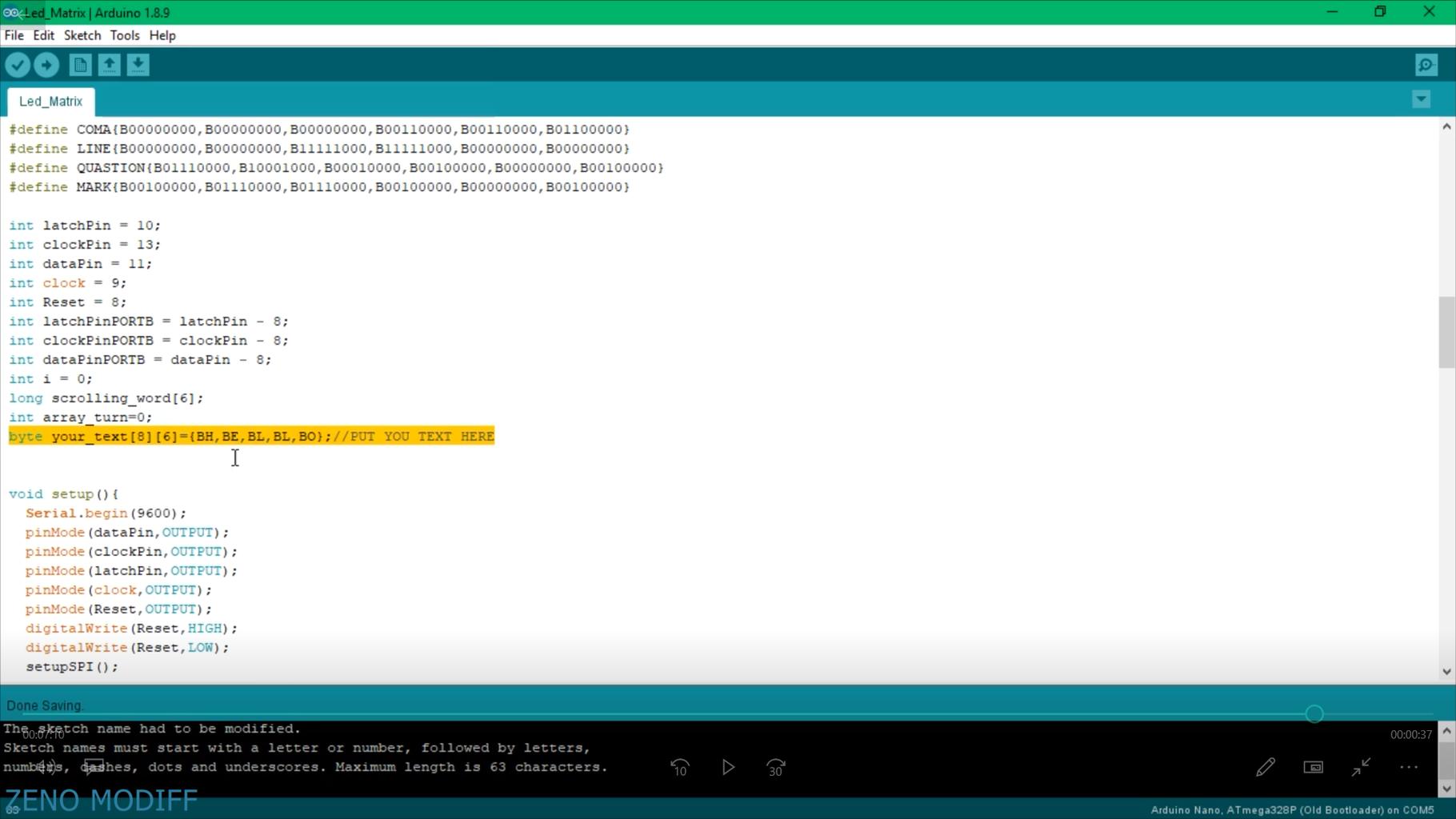 Uploading Arduino Code & Testing