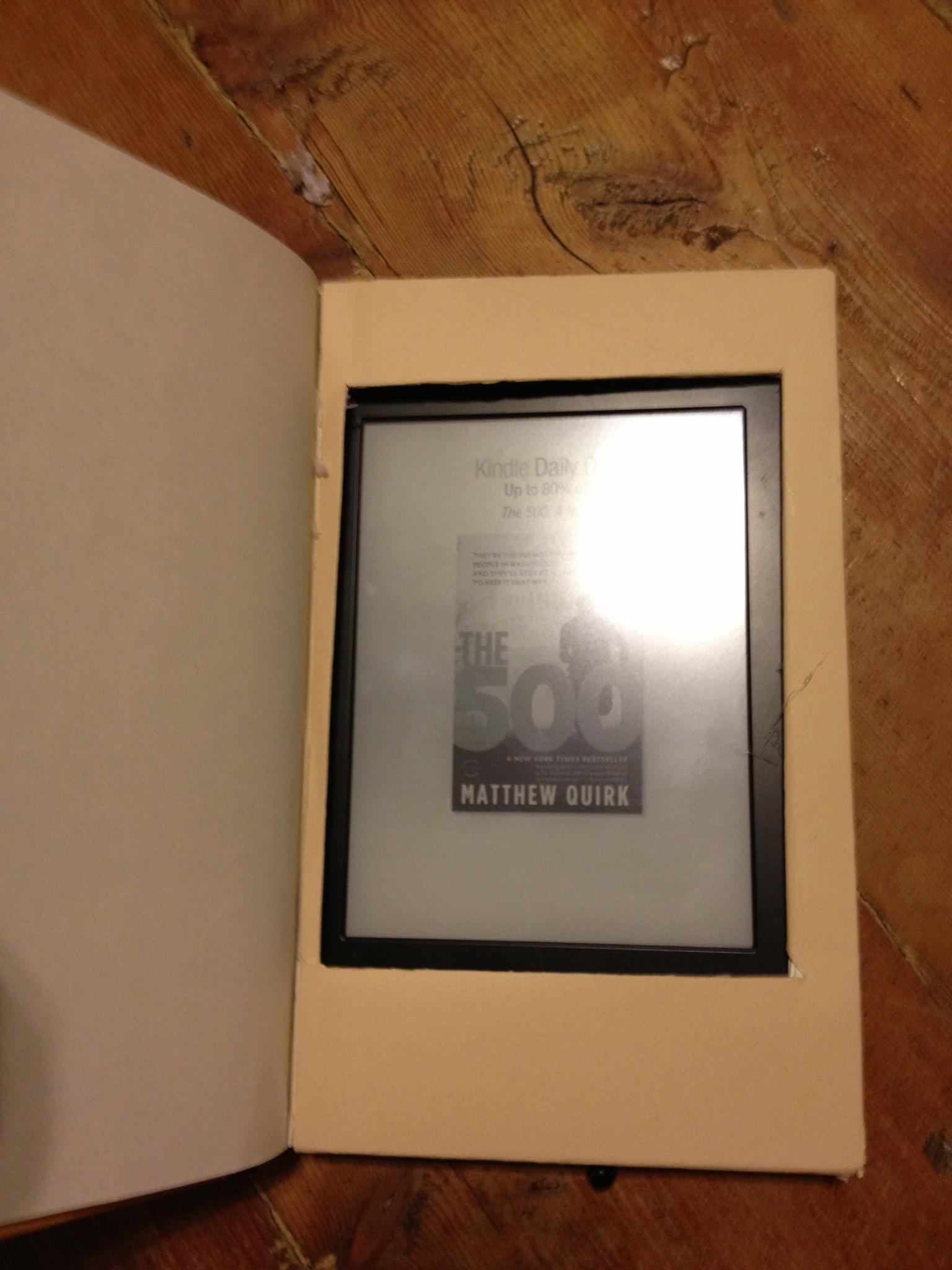 Kindle Hideaway In A Book