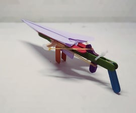 Rubber Band Powered Paper Airplane Gun