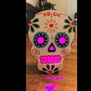 Glowing Sugar Skull Halloween Decoration