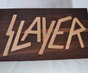 Heavy Metal Wood Cutting Board