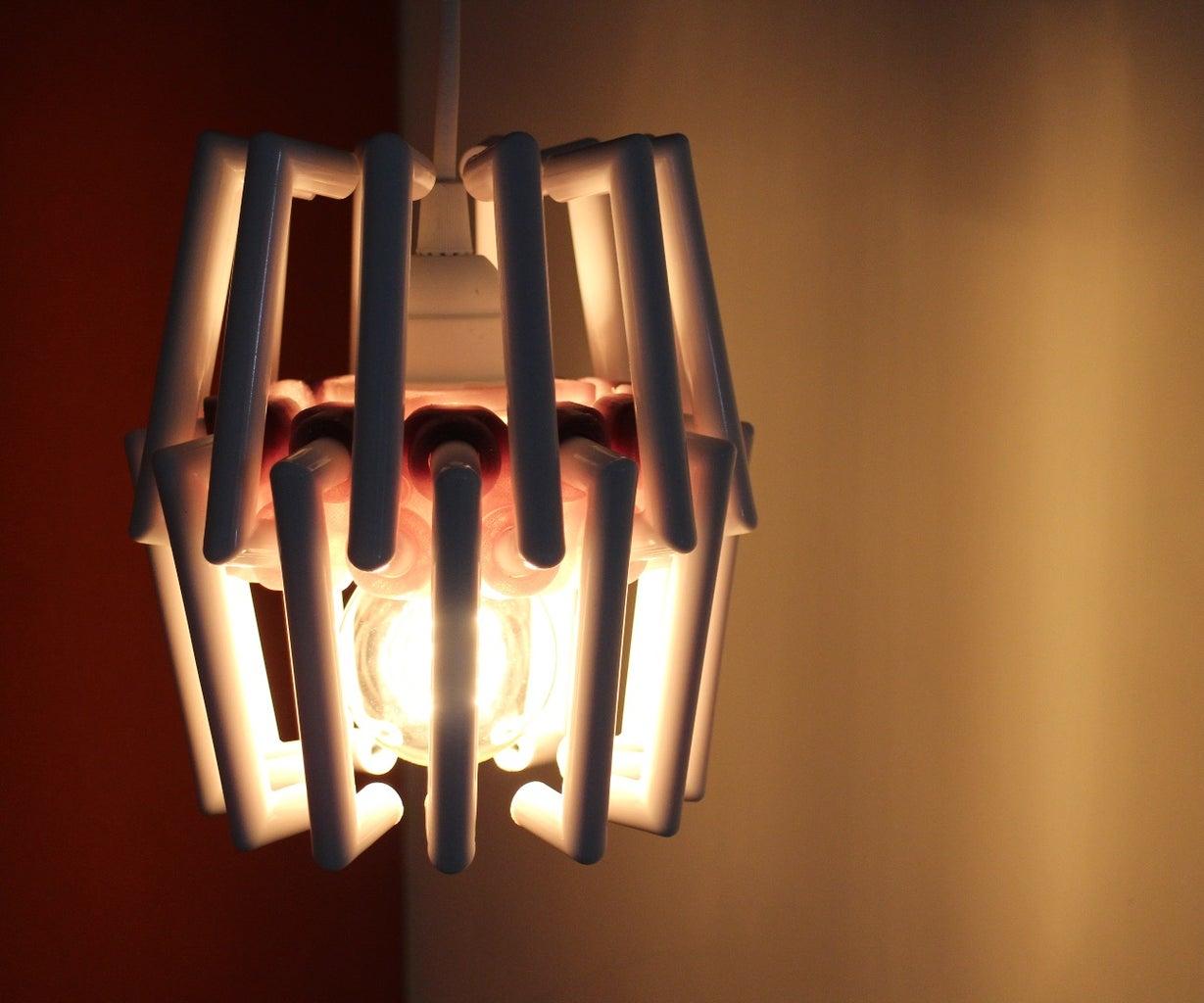 3D Printed Ikea Hack Lamp