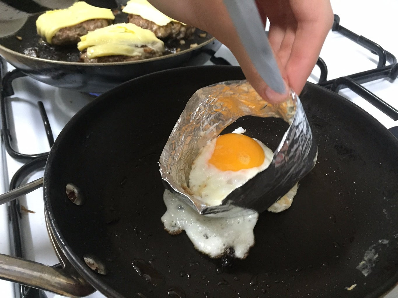 Prepare Your Toppings (Perfectly Round Fried Egg and Bacon)