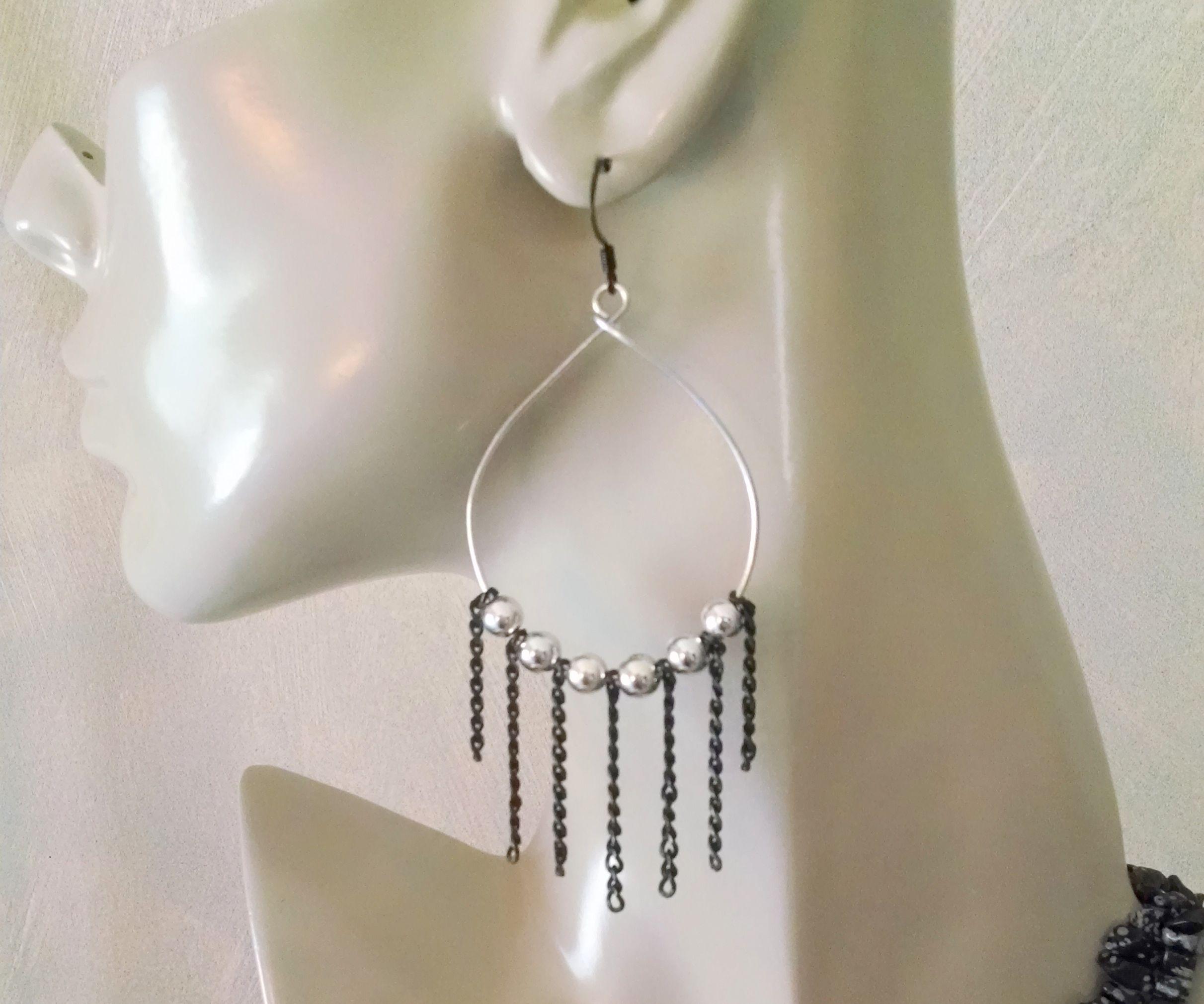 Rock and Roll Hoop earrings