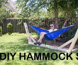 How to Build an Outdoor Hammock Stand $25