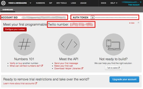 Setting Up Your Temboo and Twilio Accounts