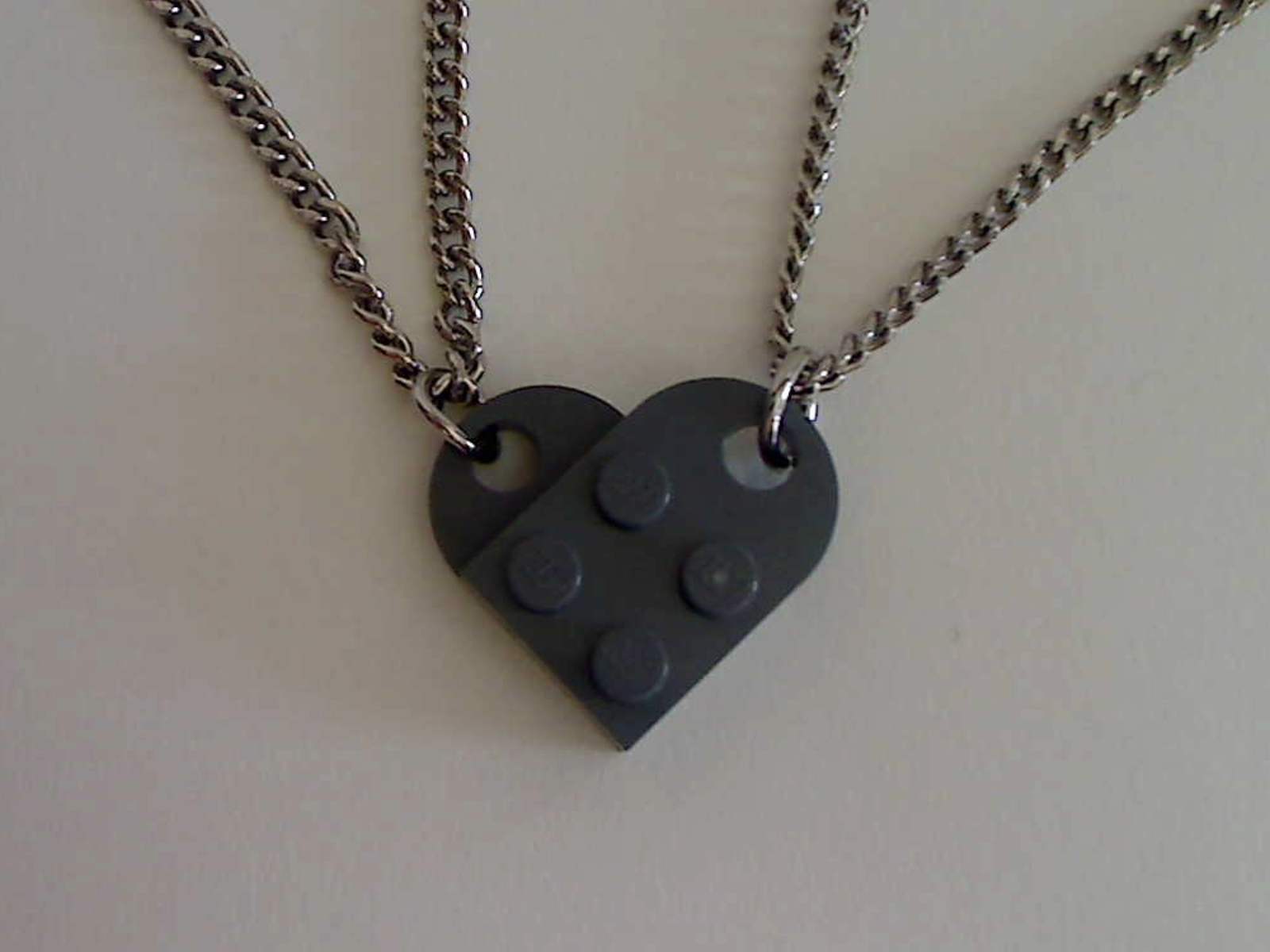 Lego Interlocking Heart Pendants