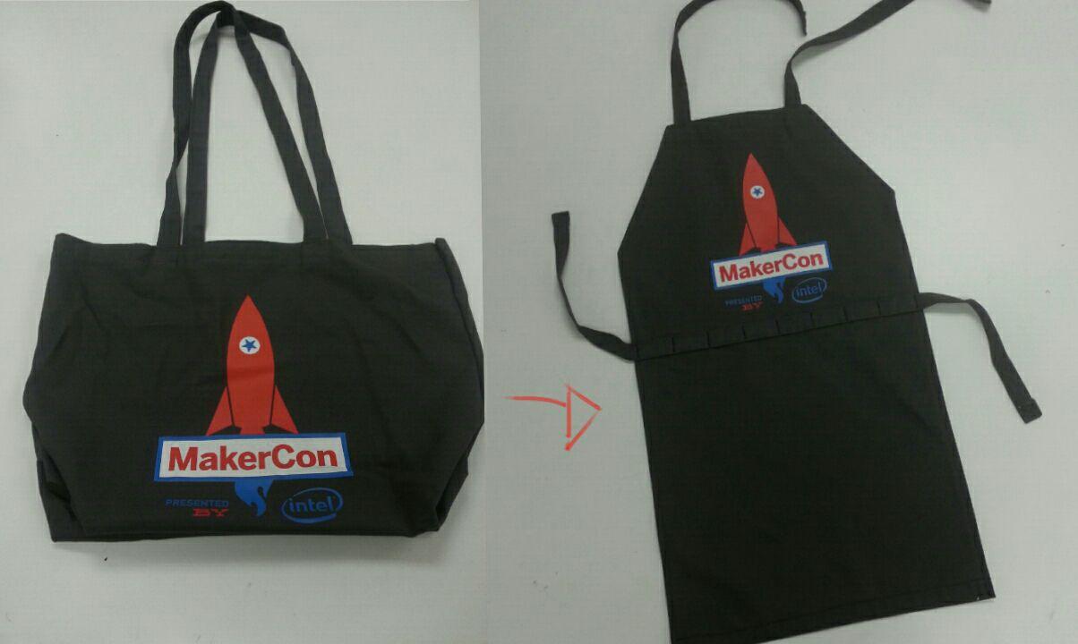 Canvas bag to Maker apron!