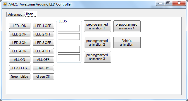 Controll Leds With an Arduino From a C# Program