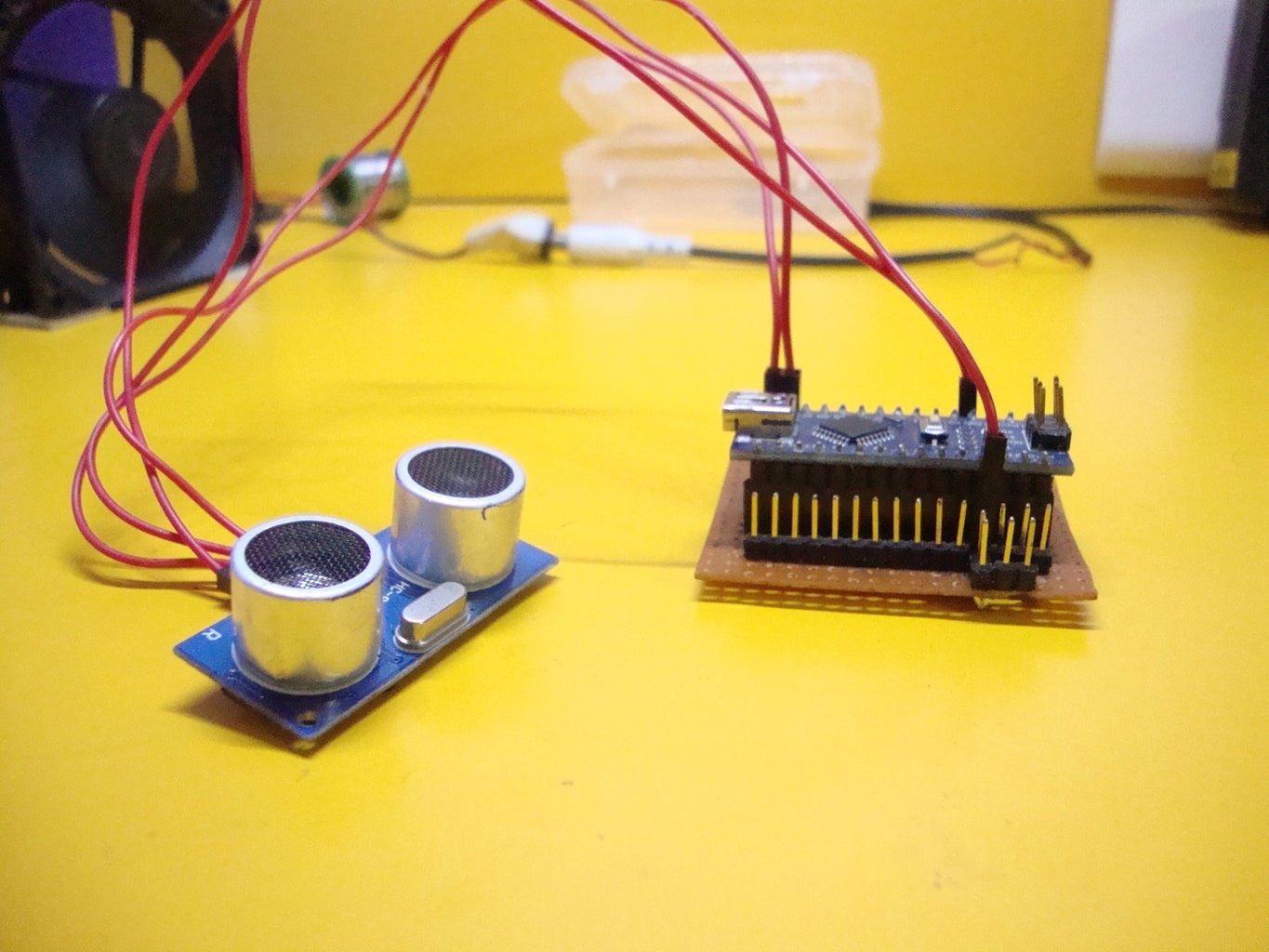 Making the Transmitter: Connect the Ultrasonic Tester