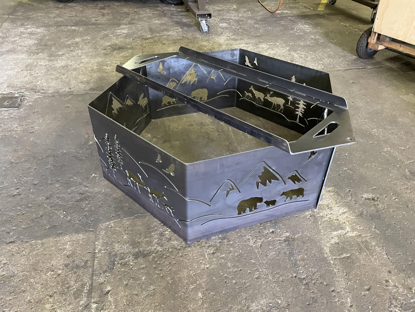 Hexagon Firepit - Fabrication and Assembly