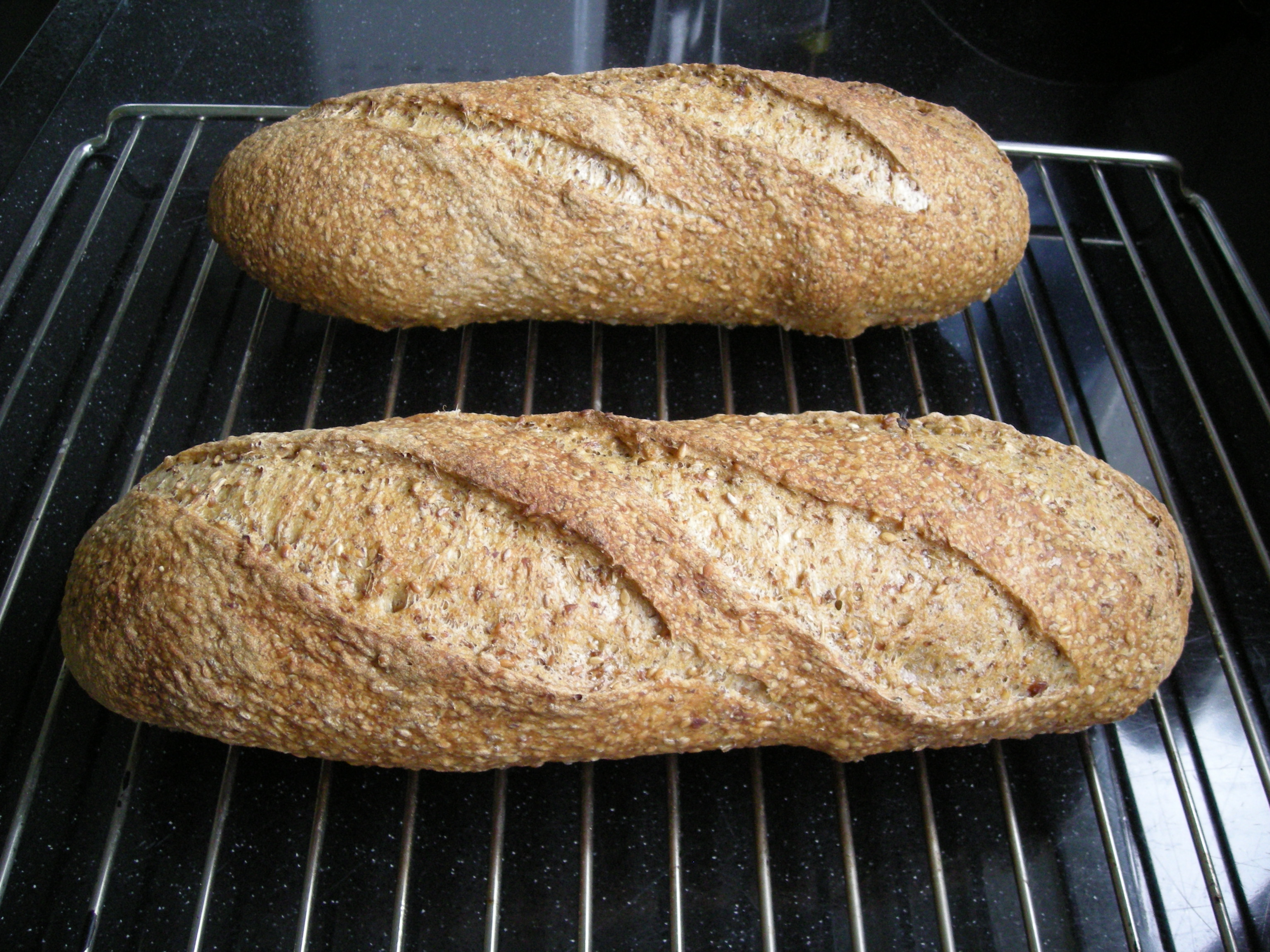 Spent Grain Sesame Bread