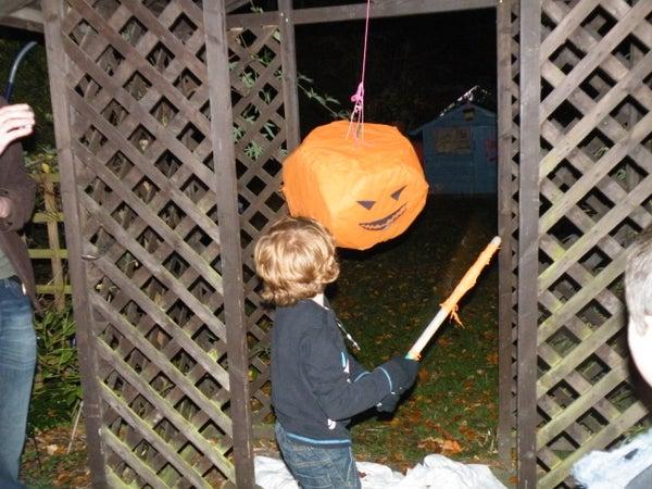 Make an Emergency Halloween Pinata