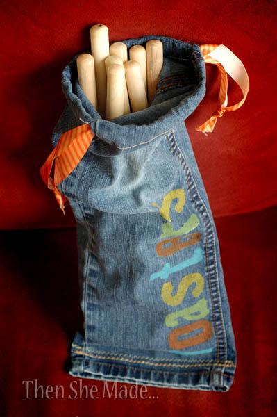 Pant Leg Camping Bag - perfect for roasting sticks