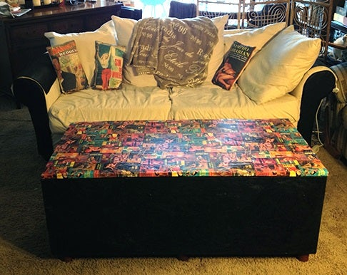 Paper Napkins & Wrapping Paper Coffee Table Hack