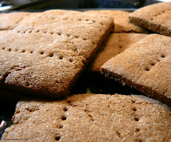 Homemade Graham Crackers With White Chocolate Frosting