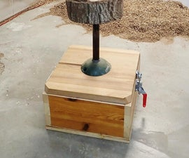 Bowling Ball Wood Carving Vise