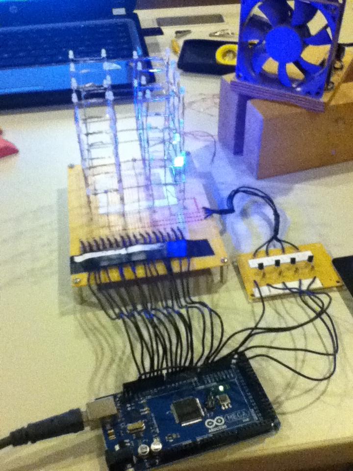 4x4x4 LED Cube Arduino
