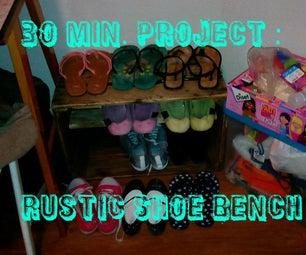 30 Min Rustic Shoe Bench