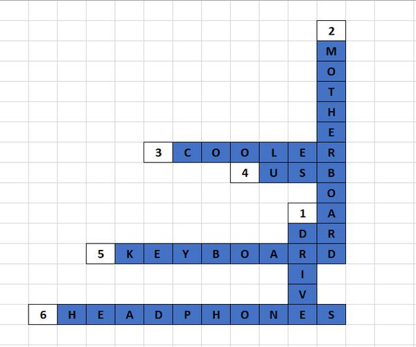 Excel Crossword Puzzle