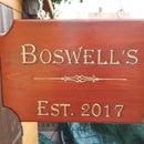 Hand carved hanging Bar Sign