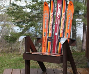 Build a Lawn Chair From Recycled Skis - the Ski Chair!