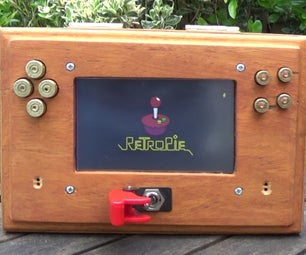 Wooden HandHeld Games Console RetroPie Bullet Button, and Missile Switch