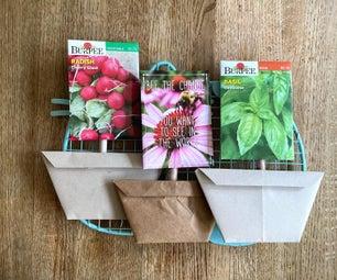 装饰性纸制种子包花盆