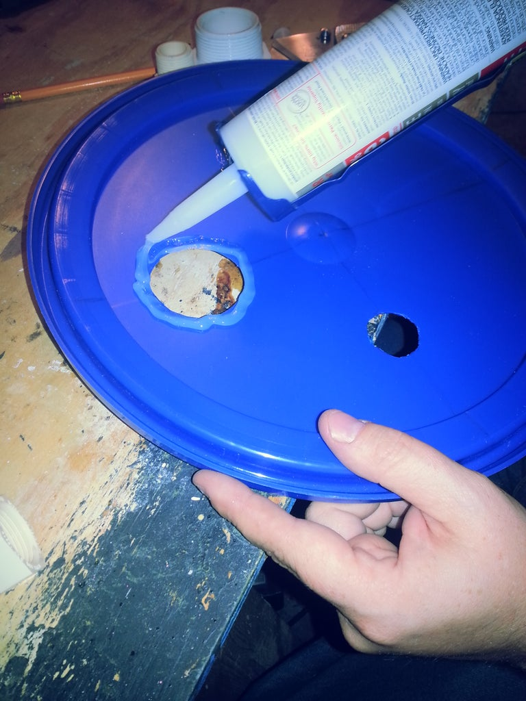 Joining and Sealing the Bucket Lid