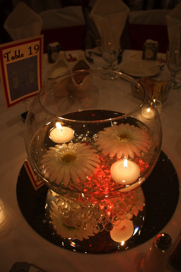 Floating Silk Daisies for Centerpieces