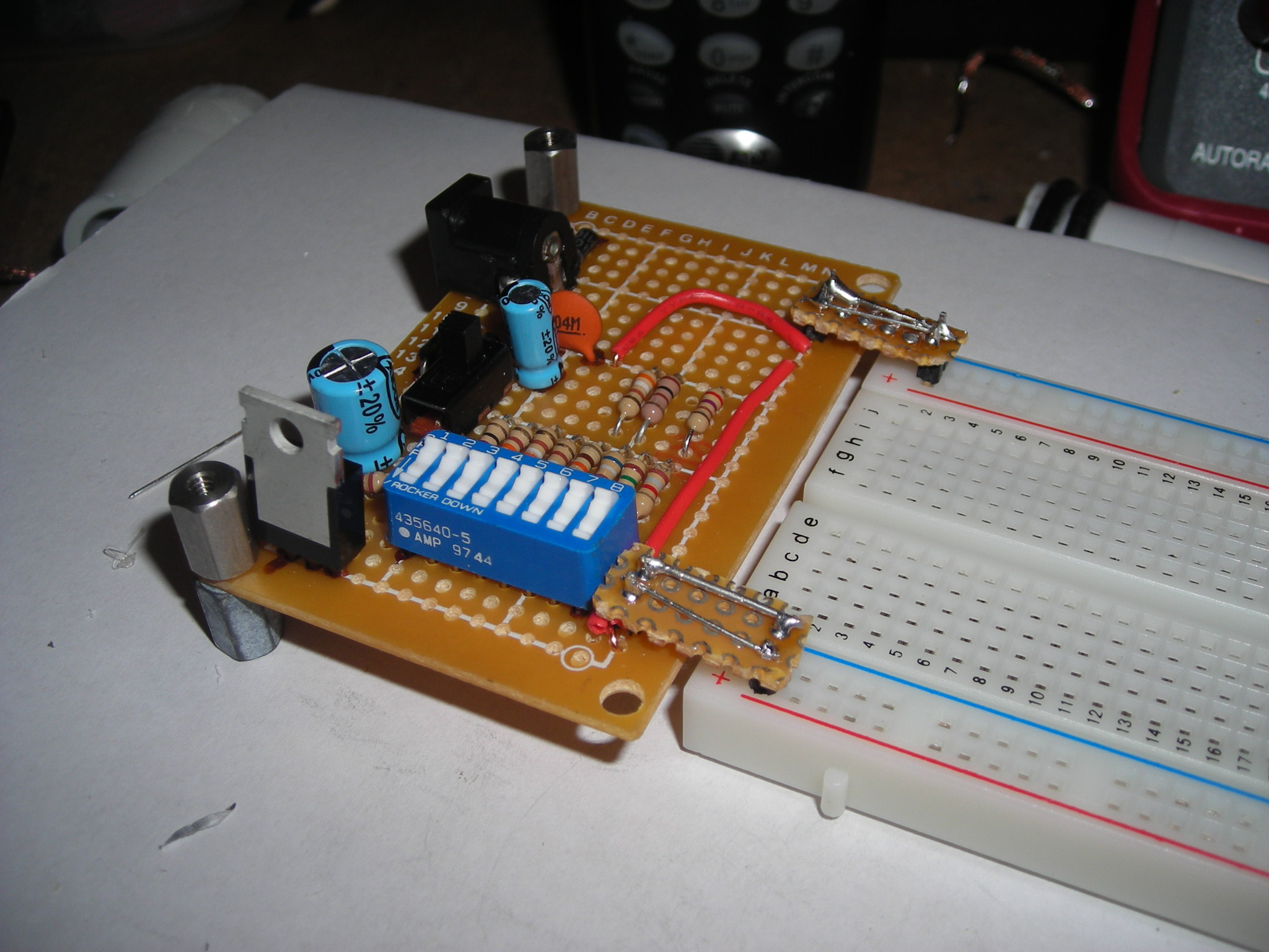 The Radioshack, Adjustable, Breadboard Power Supply.