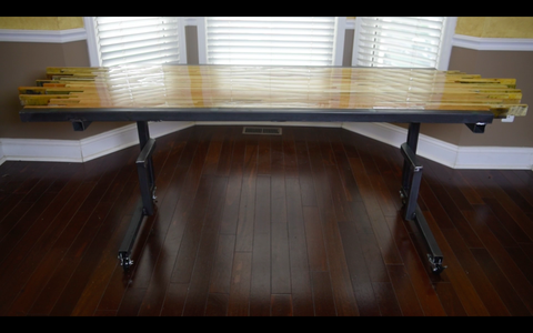 Standing Pallet Desk - Epoxy Finished