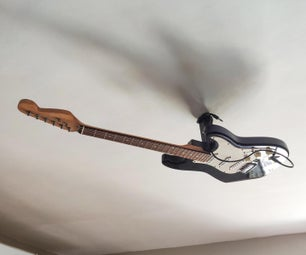 Ceiling Lamp From an Old Guitar