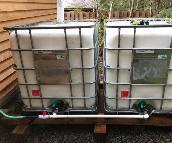 Green Solar Powered Water Barrel Version 2