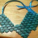 Polymer Clay Dragon Scale Necklace