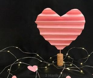 纸心脏室装饰为情人节装饰