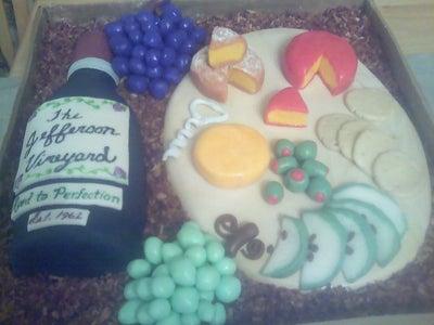 Wine and Cheese Cake