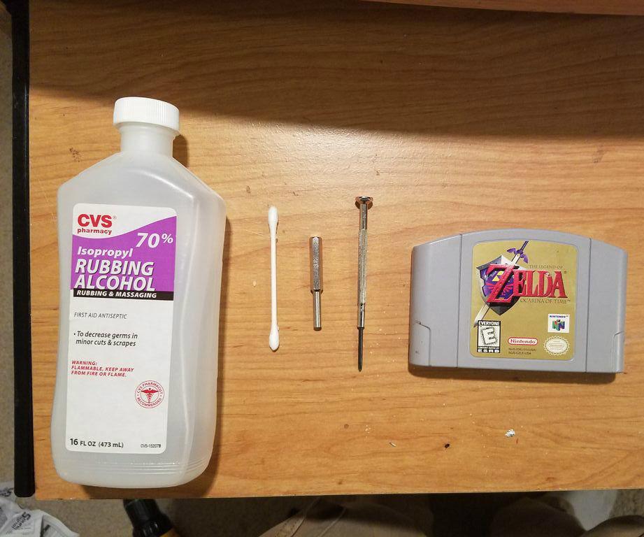 Restoring an N64 Nintendo Cartridge