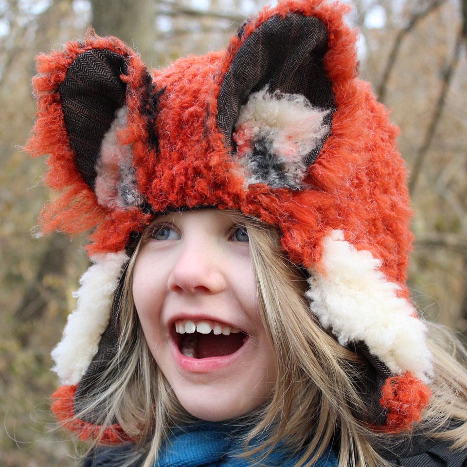 Sew a Fox Earflap Hat