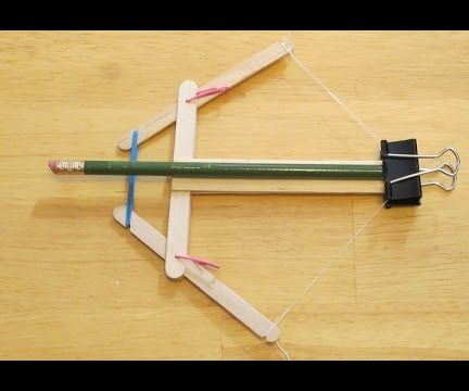 How to make a Rubber Band Powered Crossbow