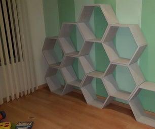 CNC Help Honeycomb Toy Shelves Beehive