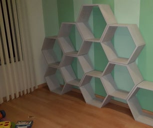 CNC Help Honeycomb Toy Shelves Beehive