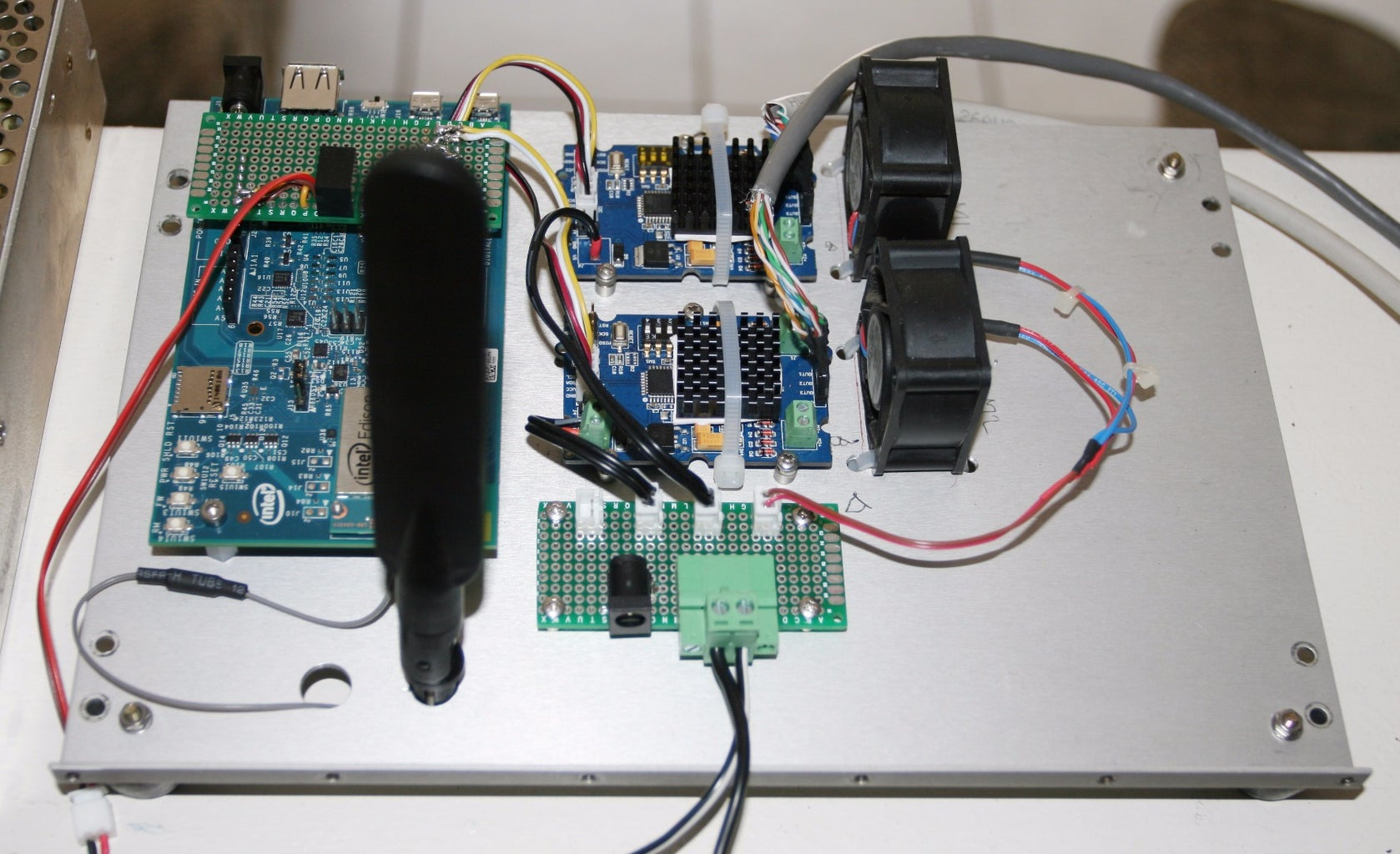 Connect Motor Drivers, Supply Power