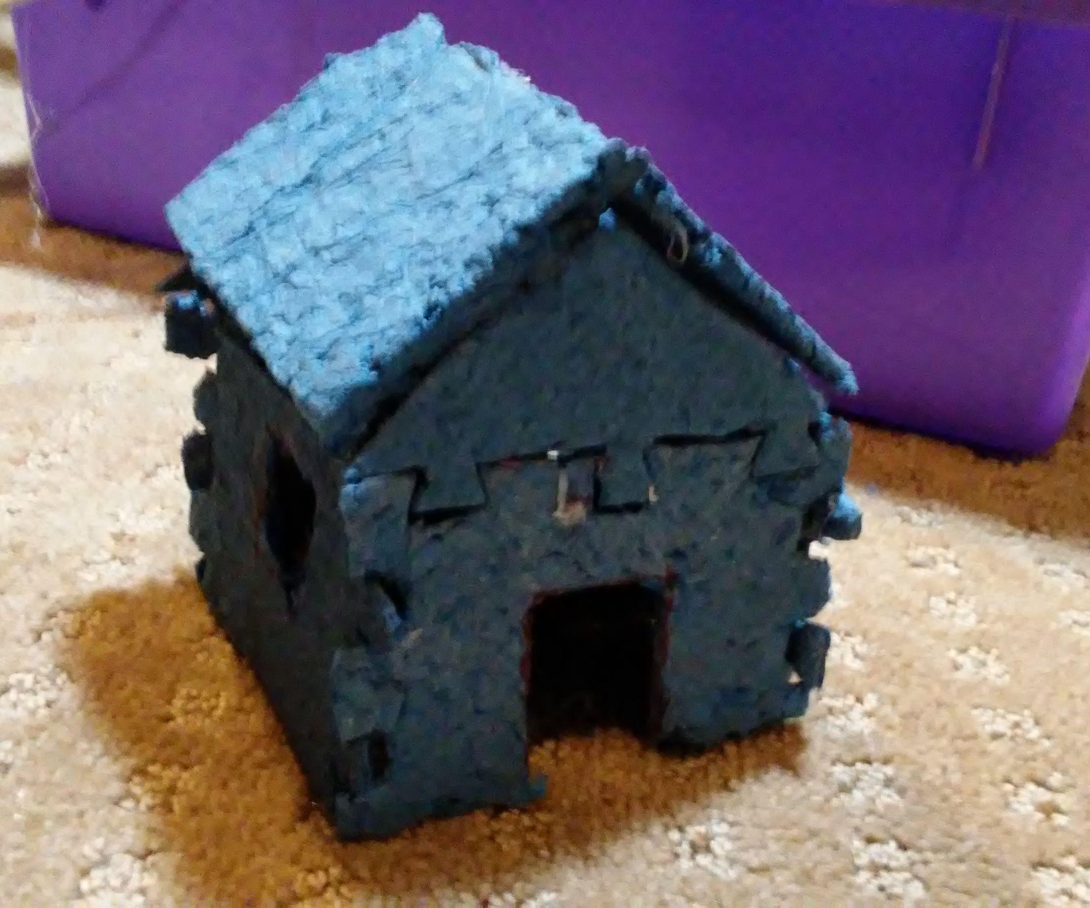 2D to 3D Puzzle: Mini Log Cabin
