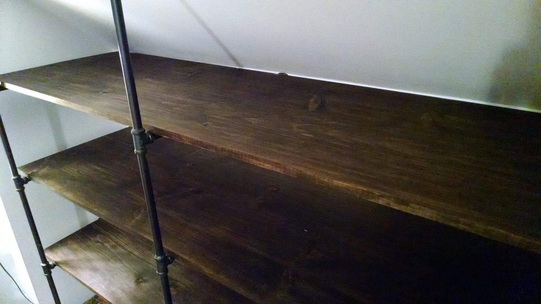 Black Pipe Shelf