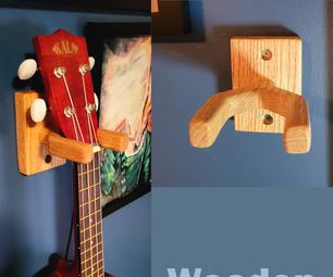 木制尤克里里琴墙壁衣架