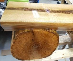 Natural Wood Bench