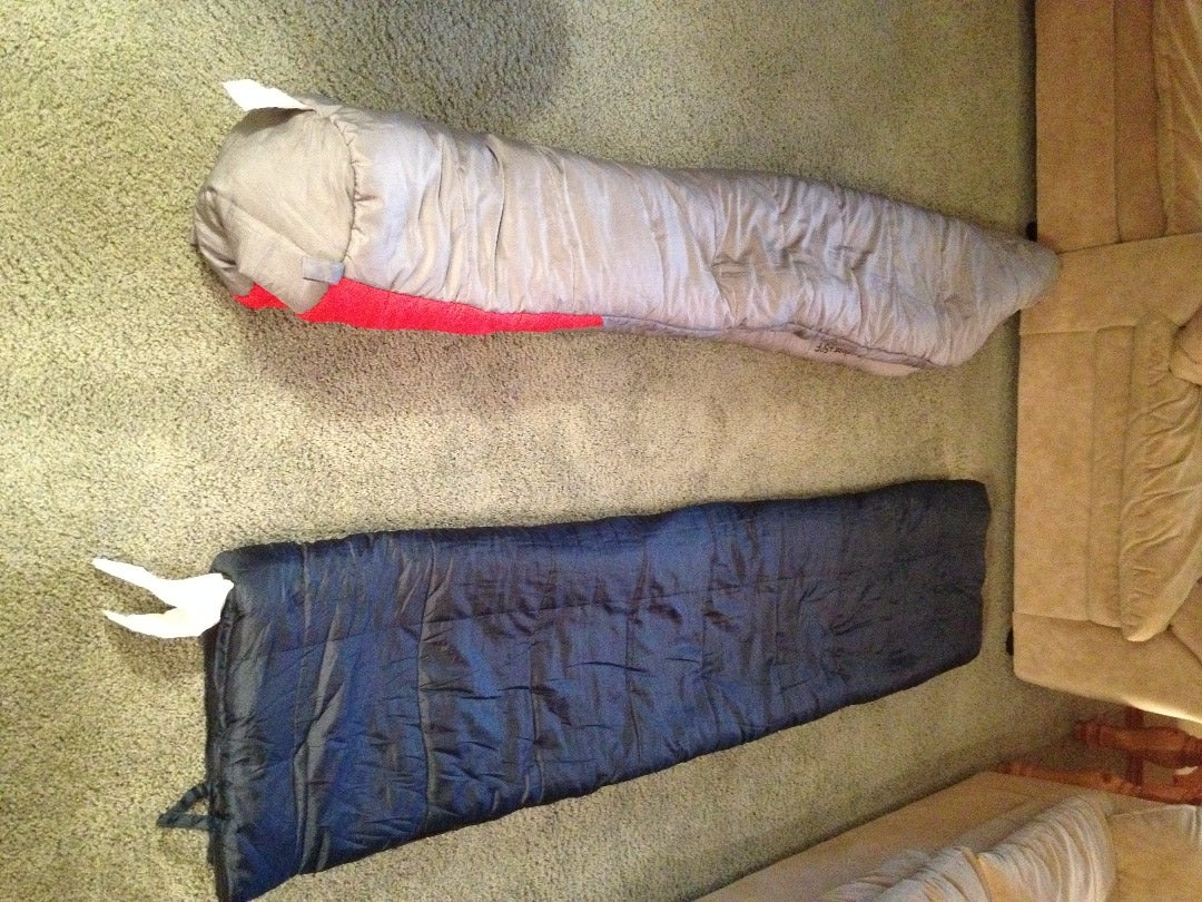 Fold Sleeping Bag in Half