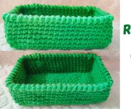 Make Your Own Rectangle Crochet Basket
