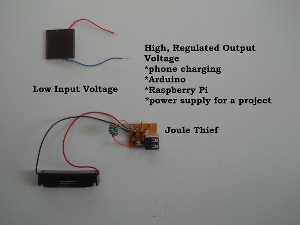 Cheap Voltage Regulated Joule Thief Power Supply/charger